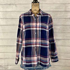 Old Navy   Women's Flannel Button Down Shirt SZ XL